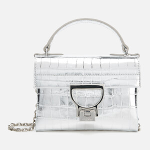 Coccinelle Women's Mignon Croco Chain Bag - Silver