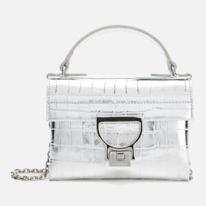 Coccinelle Women's Mignon Croco Chain Bag - Silver