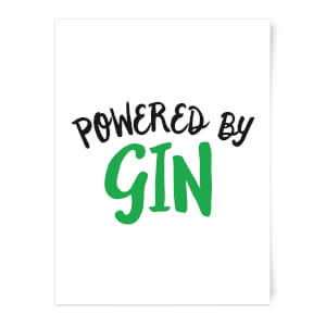 Powered By Gin Art Print