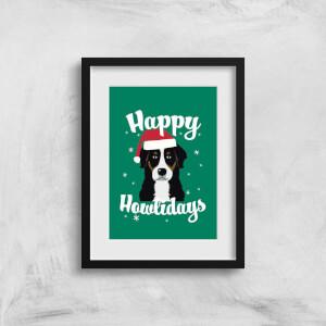 Happy Howlidays Art Print