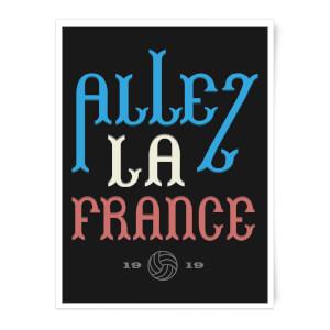 Allez La France Art Print