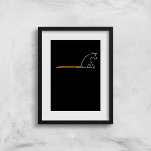 Unicorn Skid Mark Art Print