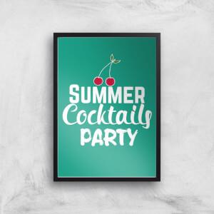Summer Cocktails Party Art Print
