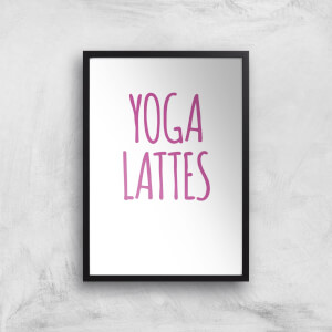 Yoga Lattes Art Print