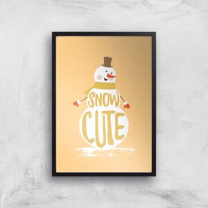 Christmas Snow Cute Snowman Art Print
