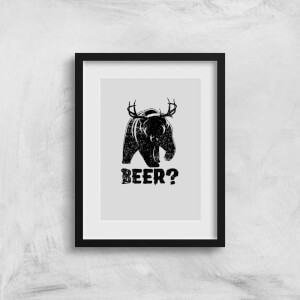 Beer Bear Deer Art Print