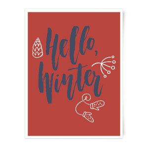 Hello Winter Art Print