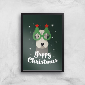 Yappy Christmas Art Print