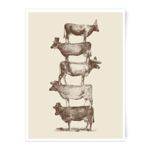 Cow Cow Nuts Art Print