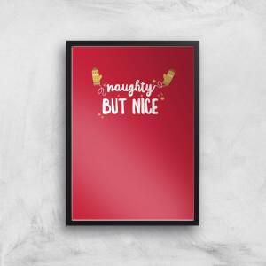 Christmas Naughty But Nice Art Print
