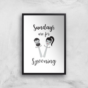 Sundays Are For Spooning Art Print