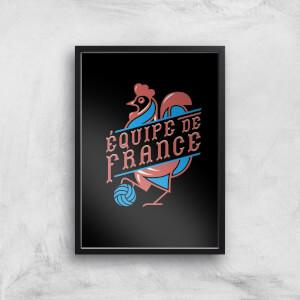 Equipe De France Art Print