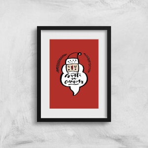 Santa Is Coming Art Print