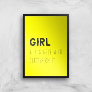 Girl Definition Art Print