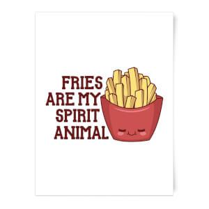 Fries Are My Spirit Animal Art Print