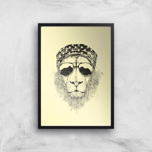 Bandana Lion Art Print