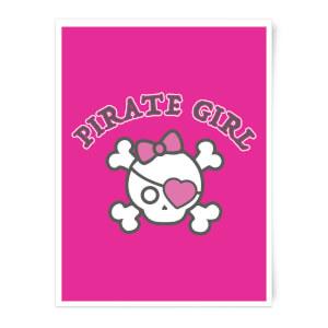 Pirate Girl Art Print