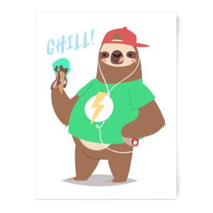 Sloth Chill Art Print