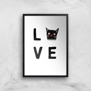 Cat Love Art Print