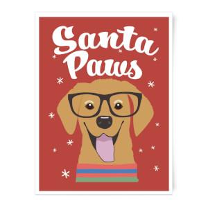 Santa Paws Art Print
