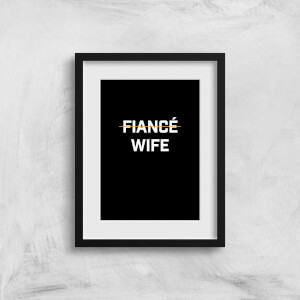 Fiance Wife Art Print
