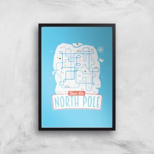 Tour De North Pole Art Print