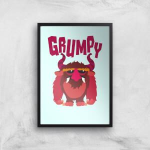 Grumpy Art Print
