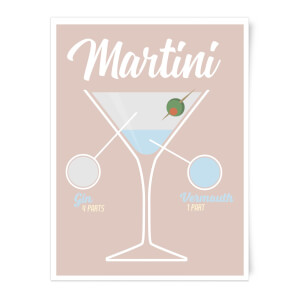 Infographic Martini Art Print