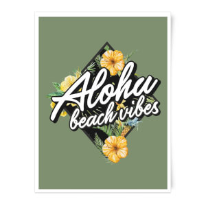 Aloha Beach Vibes Art Print