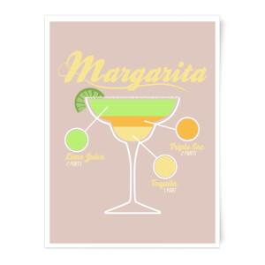 Infographic Margarita Art Print