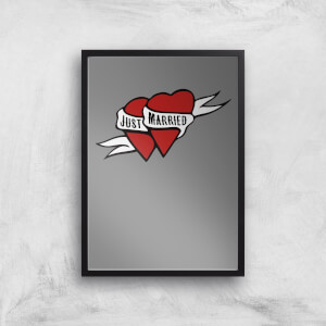 Just Married Art Print