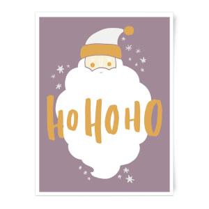 Christmas Santa Ho Ho Ho Art Print