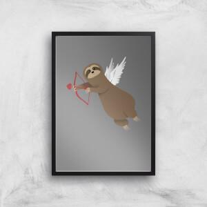 Sloth Cupid Art Print