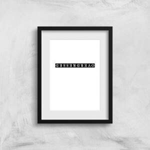 Overdressed Black Art Print