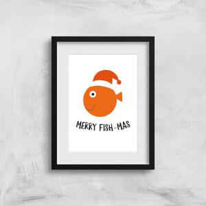 Merry Fish-Mas Art Print