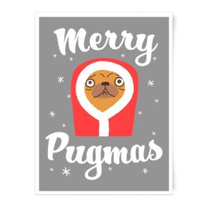 Merry Pugmas Art Print