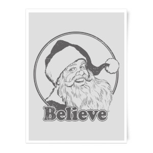 Believe Grey Art Print