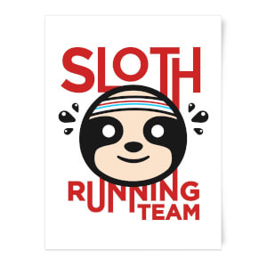 Sloth Running Team Art Print