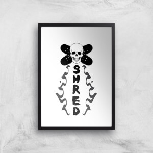 Shred Skateboards Art Print