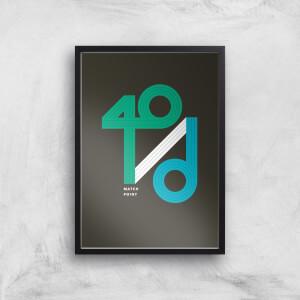 40 / D Match Point Art Print