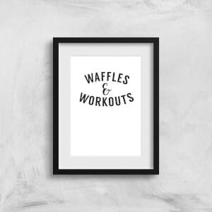 Waffles And Workouts Art Print