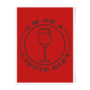 Liquid Diet Wine Art Print