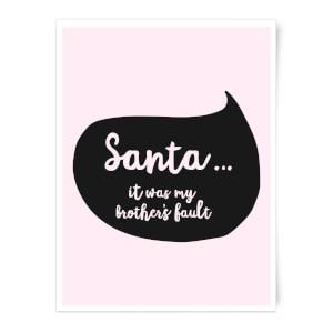 Christmas Brothers Fault Speech Bubble Art Print