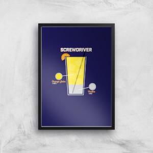 Infographic Screwdriver Art Print
