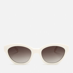 Karl Lagerfeld Women's Oval Frame Sunglasses - White