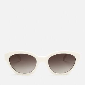 Karl Lagerfeld Women's Oval Frame Sunglasses - White
