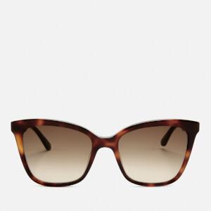 Karl Lagerfeld Women's Butterfly Frame Sunglasses - Havana