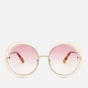 Chloe Women's Willis Round Frame Sunglasses - Gold/Ivory