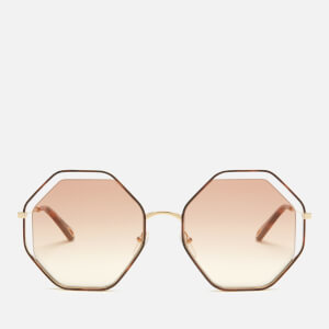 Chloe Women's Poppy Octagon Frame Sunglasses - Havana/Peach