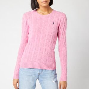 Polo Ralph Lauren Women's Julianna Classic Long Sleeve Jumper - Wine Rose Heather